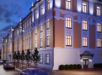 Четырехэтажный комплекс апартаментов